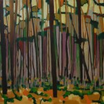 Black pines. Oil paint on canvas 90cm x 100cm, 2012