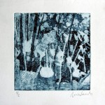 N.t. Etch, aquatint, 15x15cm, 2012. Courtesy Tashvault Gallery New Hampshire, USA.