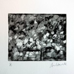 N.t. Copper etch, sans aquatint 10x12cm, 2012. Courtesy Tashvault Gallery New Hampshire, USA.